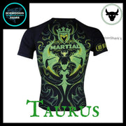 Taurus Compression Rashguard | Submission Shark' Dark Zodiac Series