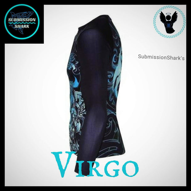Virgo Rashguard (Long Sleeve) | Submission Shark | Left Side