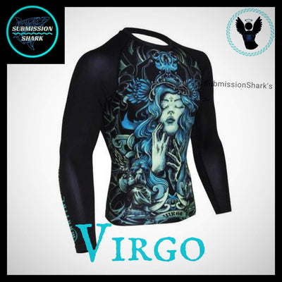 Virgo Rashguard (Long Sleeve) | Submission Shark | Front Right Side