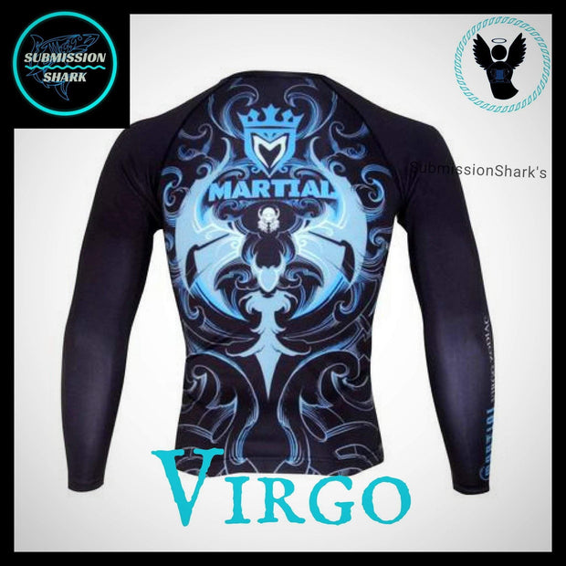 Virgo Rashguard (Long Sleeve) | Submission Shark | Back