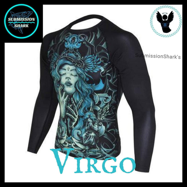 Virgo Rashguard (Long Sleeve) | Submission Shark | Front Left
