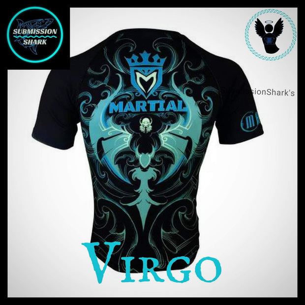 Virgo Compression Shirt | Submission Shark | Back