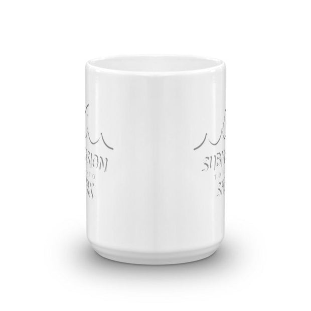 Wavy White Mug | Submission Shark - tamlifestyle