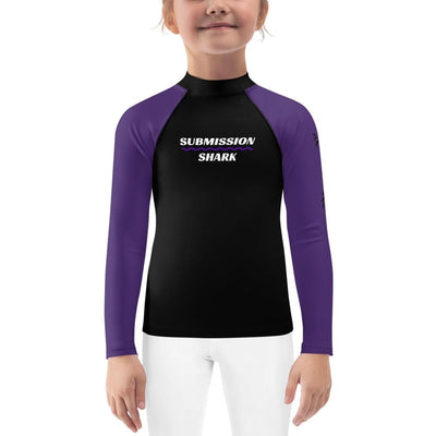 Purple SS Premium Standard ~ Kid's BJJ Rash Guard