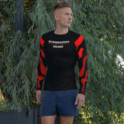 Ranked 1.0 Compression Shirt (Coral Red) | Submission Shark Rashguard