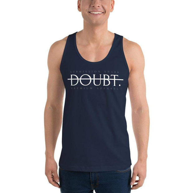 Submission Shark's No Doubt Classic tank top (unisex) | Motivational Apparel Navy
