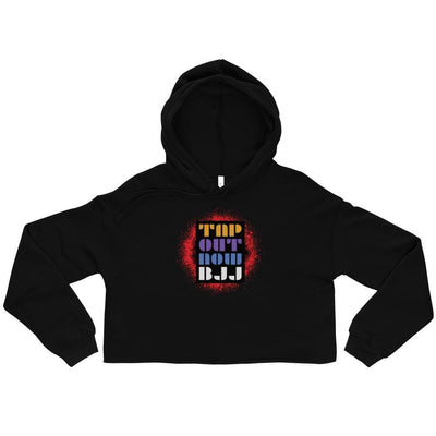 Tap Out Now BJJ Crop Hoodie