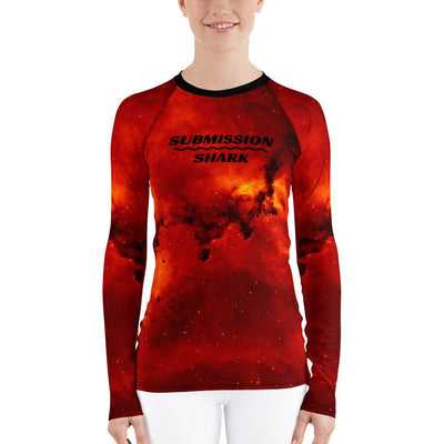 Women's BJJ Rash Guard (Cosmic Inferno)
