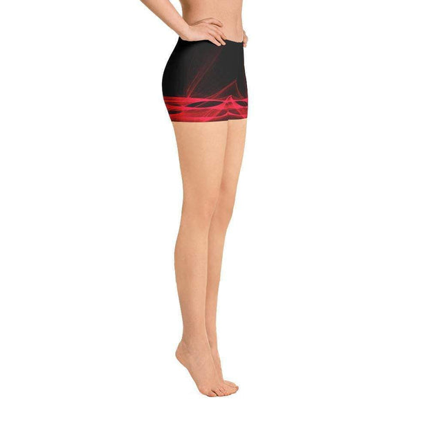 Calm Blaze | Black & Red Sports Shorts | Submission Shark - tamlifestyle