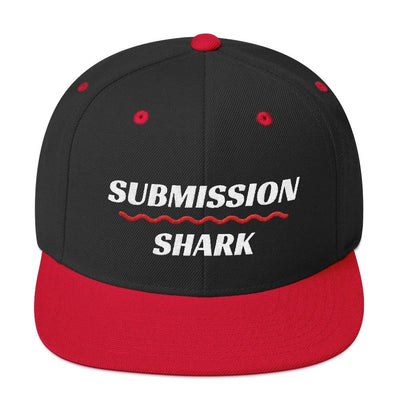 Red Brim Superior Standard | Classic Snapback Hat | Submission Shark