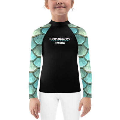 Kids No-Gi BJJ Rash Guard (Mermaid Madness)