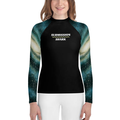 Youth Jiu-Jitsu Rash Guard - Galactic Swirl (Submission Shark)
