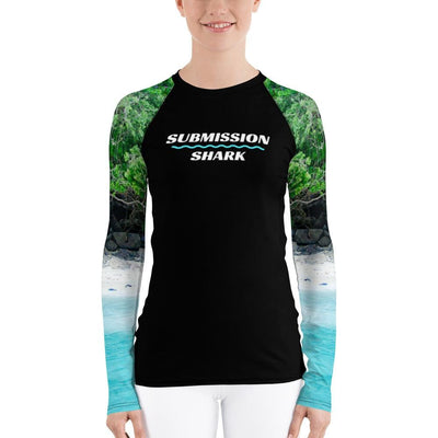 Tropical Shores ~ Women's BJJ Rash Guard