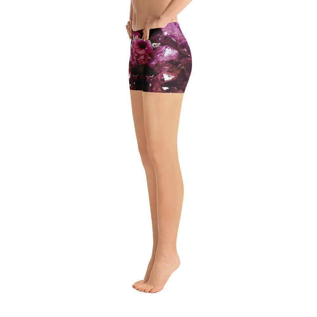 Violet Gemstone Sports Shorts | Submission Shark Left
