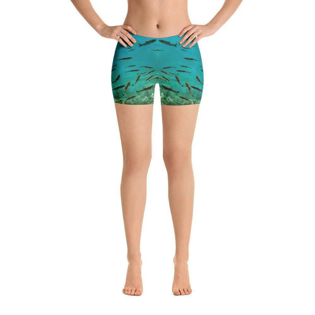 Fish's Paradise Sports Shorts | Submission Shark Front