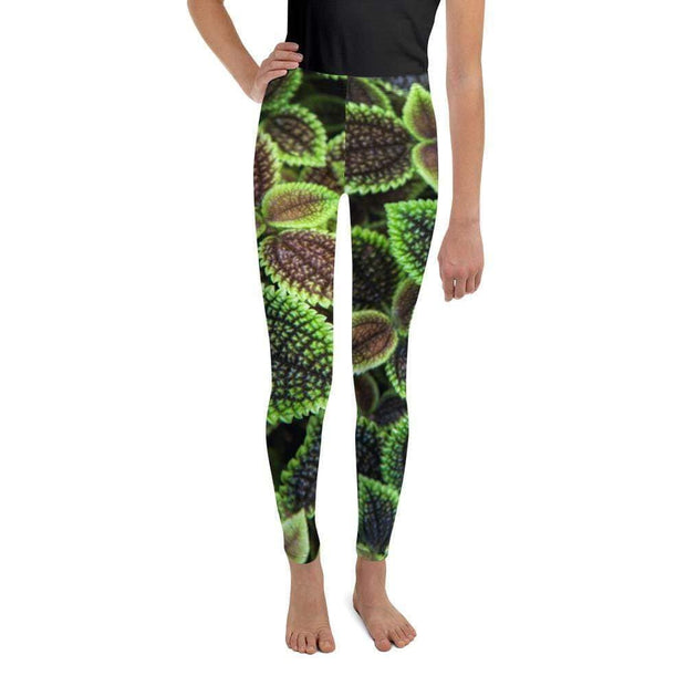 Glowing Green Youth Leggings | Submission Shark - tamlifestyle