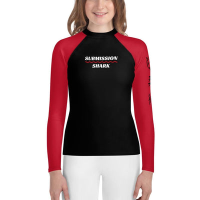 Red SS Premium Standard - Youth MMA Rash Guard