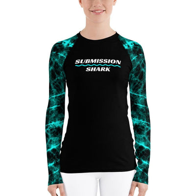 Women's BJJ Rash Guard (Vibrant Vibrations)