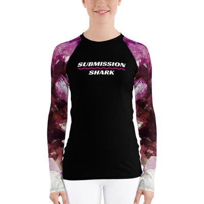 Women's Purple BJJ Rash Guard (Submission Shark)