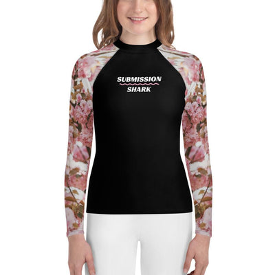 Youth BJJ Rash Guard (Pink Blossom)
