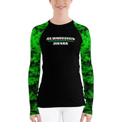 Green Lush ~ Women's BJJ Rash Guard