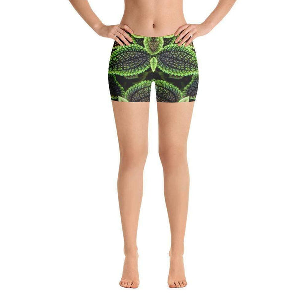 Glowing Growing Green Sports Shorts | Submission Shark Front