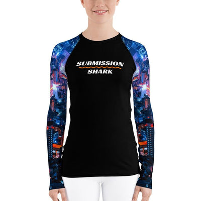 City Lights ~ Women's BJJ Rash Guard