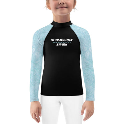 Baby Blue Beauty ~ Kids BJJ Rash Guard
