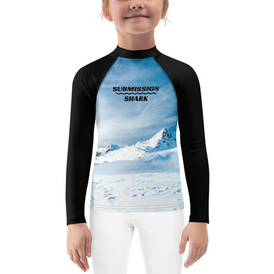 Tundra Avalanche ~ Kids Blue BJJ Rash Guard