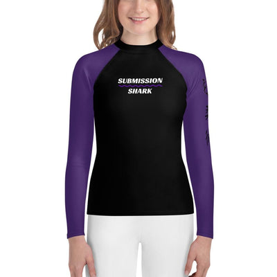 Purple SS Premium Standard - Youth MMA Rash Guard