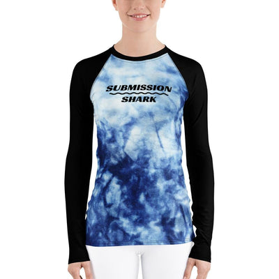 Shop Blue and Black Women's BJJ Rash Guard (Frozen Soul)