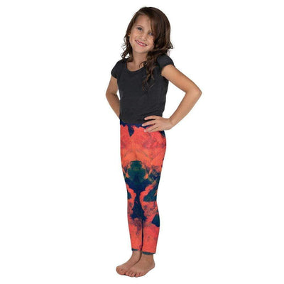 Abstract Azure Kid's Leggings | Submission Shark - tamlifestyle