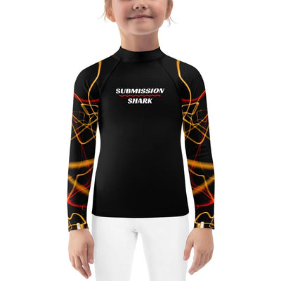 Kids BJJ Rash Guard (Electric Flow)