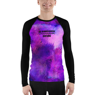 Men's Jiu Jitsu Rash Guard (Violet Psionic)
