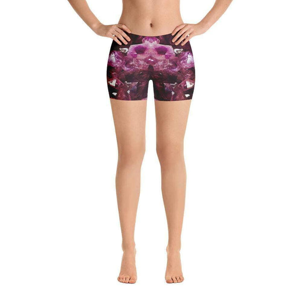 Violet Gemstone Sports Shorts | Submission Shark Front
