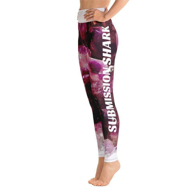 Violet Gemstone Yoga Leggings | Submission Shark