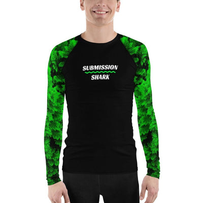 Men's BJJ Rash Guard (Vibrant Green Lush)
