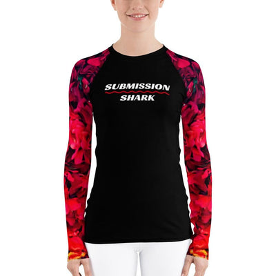 Women's Red BJJ Rash Guard (Scarlet Gardens)