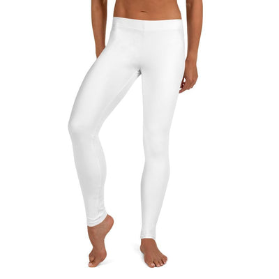 Women's Premium Full Guard BJJ Leggings (White SS Premium Standard)
