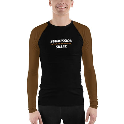 Men's BJJ Rash Guard (Brown SS Premium Standard)