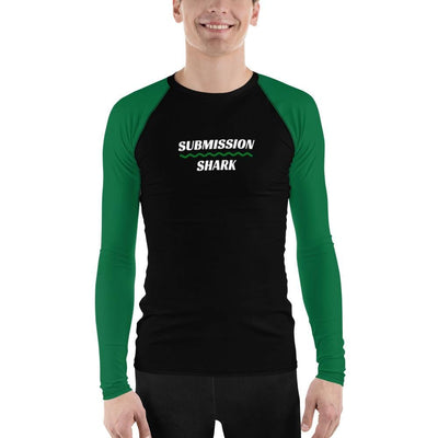 Men's BJJ Rash Guard (Green SS Premium Standard)