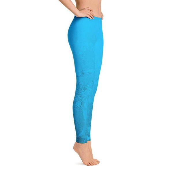 Blue Marble Leggings | Submission Shark Right