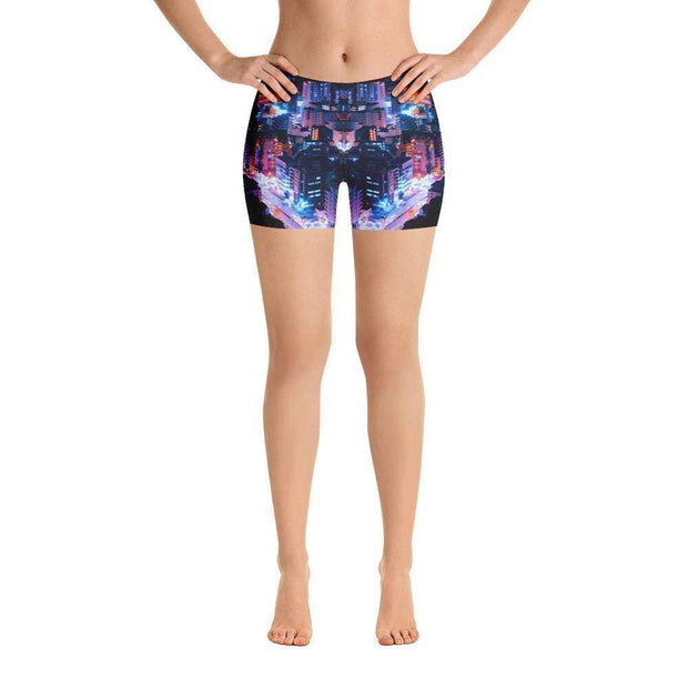 City Life Sports Shorts | Submission Shark Front