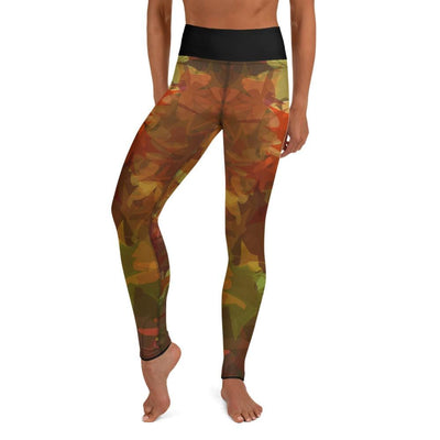 High-Waist BJJ Leggings (Maple Fall)