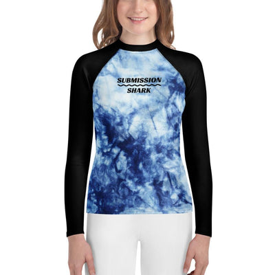 Frozen Soul - Blue and Black Youth Rash Guard