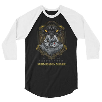 Black Panther ~ 3/4 sleeve unisex raglan BJJ shirt