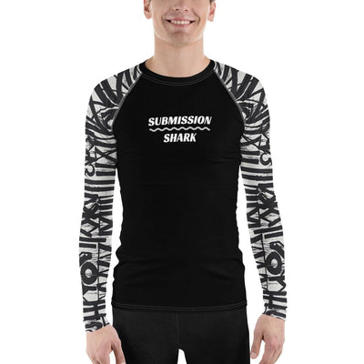 Men's BJJ Rash Guard (White Noise)