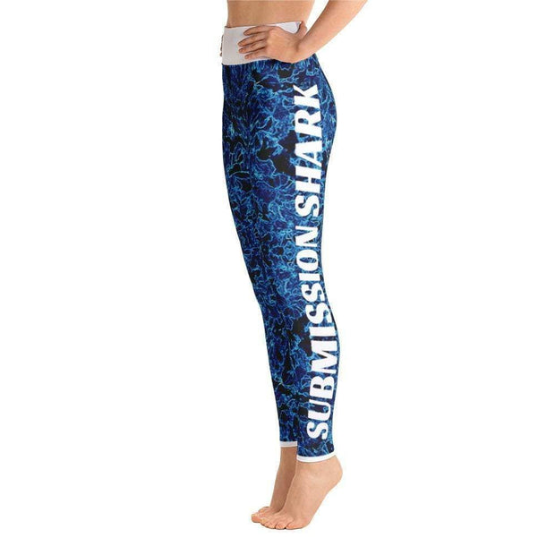 Aqua Vibe Yoga Leggings | Submission Shark