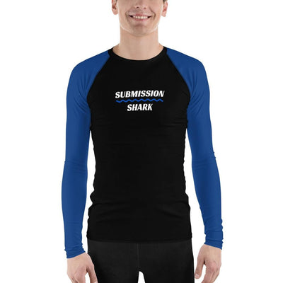 Men's No-Gi BJJ Rash Guard (Blue SS Premium Standard)