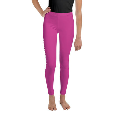 Pink SS Premium Standard - Youth BJJ Leggings
